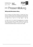 Pressemitteilung_Ankündigung_FDPOrtsverbandsgründung